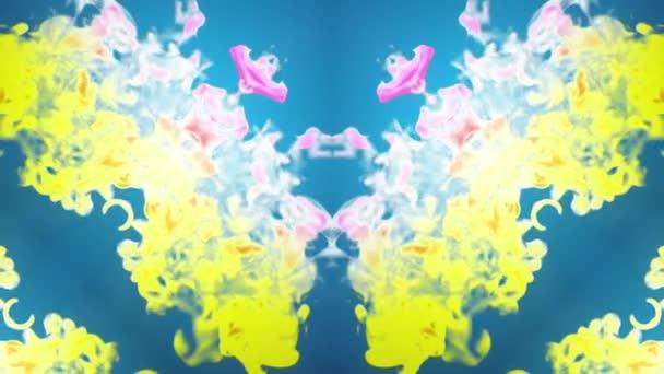 multi-színes Kaleidoszkóp van festékhatásokat vagy háttér. Luma Matt használják az alfa-csatornát. Tinta elterjedése lassú zár megjelöl kilátás. V14 3D