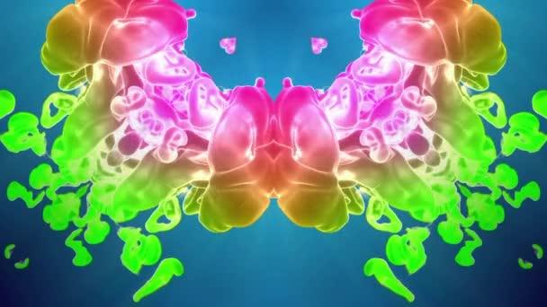 multi-színes Kaleidoszkóp van festékhatásokat vagy háttér. Luma Matt használják az alfa-csatornát. Tinta elterjedése lassú zár megjelöl kilátás. V25 3D