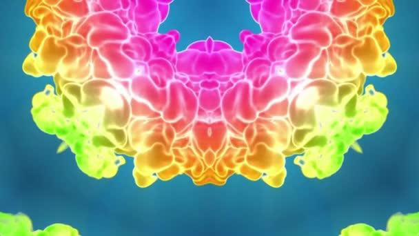 multi-színes Kaleidoszkóp van festékhatásokat vagy háttér. Luma Matt használják az alfa-csatornát. Tinta elterjedése lassú zár megjelöl kilátás. V28 3D