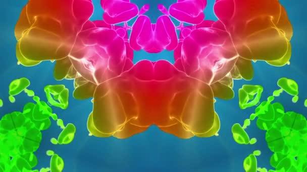 multi-színes Kaleidoszkóp van festékhatásokat vagy háttér. Luma Matt használják az alfa-csatornát. Tinta elterjedése lassú zár megjelöl kilátás. V37 3D