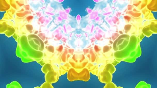 multi-színes Kaleidoszkóp van festékhatásokat vagy háttér. Luma Matt használják az alfa-csatornát. Tinta elterjedése lassú zár megjelöl kilátás. 3D V44