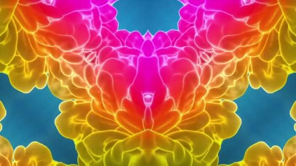multi-színes Kaleidoszkóp van festékhatásokat vagy háttér. Luma Matt használják az alfa-csatornát. Tinta elterjedése lassú zár megjelöl kilátás. 3D V31