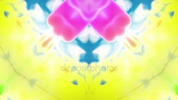 multi-színes Kaleidoszkóp van festékhatásokat vagy háttér. Luma Matt használják az alfa-csatornát. Tinta elterjedése lassú zár megjelöl kilátás. 3D V39