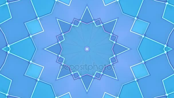 Abstract simple 3D background in blue purple gradient color, low poly style as modern geometric background or mathematical environment with kaleidoscopic effect. 4K UHD or FullHD seamless loop. 10