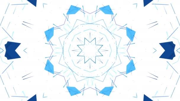 Egyszerű 3d háttér kék, lila, színátmenetét absztrakt, alacsony poly stílus, modern geometriai háttér vagy matematikai környezet kaleidoszkópszerű hatást. 4 k Uhd vagy Fullhd varrat nélküli hurok. 19