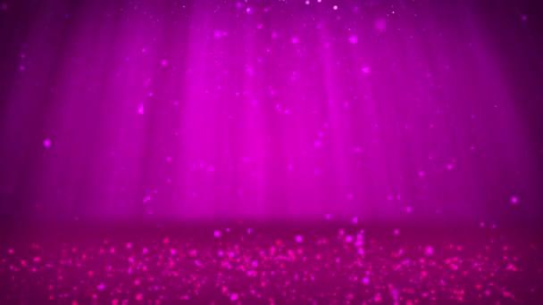 Csillogó lila részecskék vagy csillog tartoznak, és rendezni a felszínen. Háttér vagy hely tárgyak, hirdetése vagy logó. Varrat nélküli végtelenített háttér, Dof, másol hely, könnyű rays.6