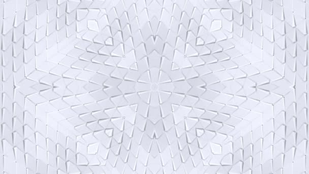white low poly geometric abstract background as a moving stained glass or kaleidoscope effect in 4k. Loop 3d animation, seamless footage in popular low poly style. V7