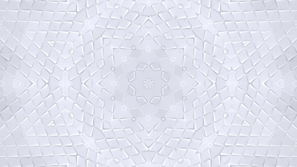 white low poly geometric abstract background as a moving stained glass or kaleidoscope effect in 4k. Loop 3d animation, seamless footage in popular low poly style. V15