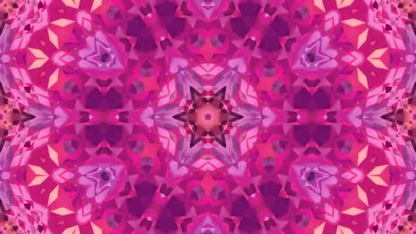 low poly geometric abstract background as a moving stained glass or kaleidoscope effect in 4k. Loop 3d animation, seamless footage in popular low poly style. Red color v12