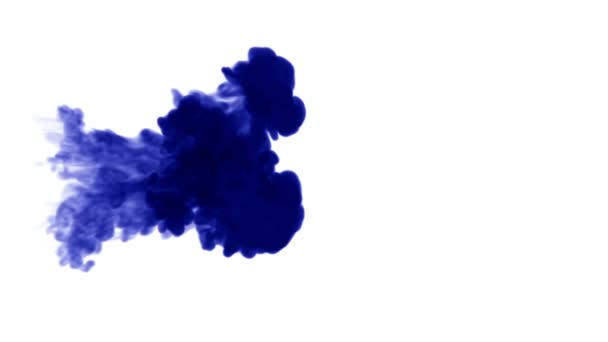 Blue ink in water on white background  3d animation ink with luma matte as  alpha channel for effects or background  a lot of flows 2