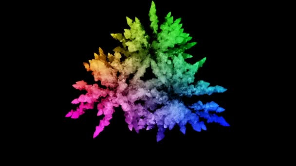fireworks from paints isolated on black background with nice trails. explosion of colored powder or ink. juicy creative explosion of all colors of the rainbow in the air in slow motion. 68