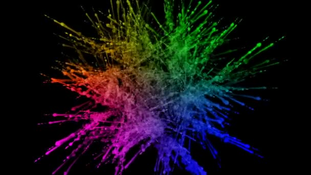 fireworks from paints isolated on black background with nice trails. explosion of colored powder or ink. juicy creative explosion of all colors of the rainbow in the air in slow motion. 81