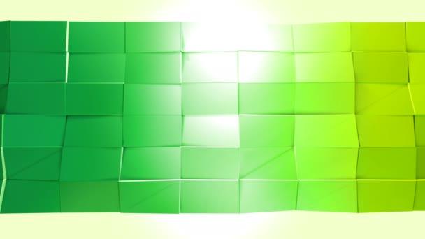 Abstraktní nízké poly styl smyčkového pozadí. 3D plynulé animace v rozlišení 4k. Moderní barvy přechodu. Nízké poly žlutá zelená povrchu v1