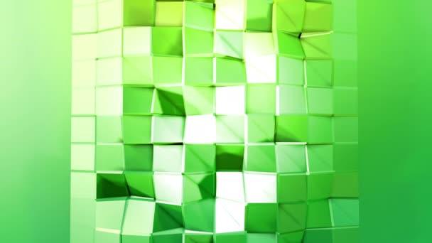 4 k alacsony poly háttérben animáció hurok. 3d animáció zökkenőmentes modern geometriai alacsony poly stílusban, átmenetes színek. Kreatív egyszerű háttér. Másol hely v7 zöld síkon