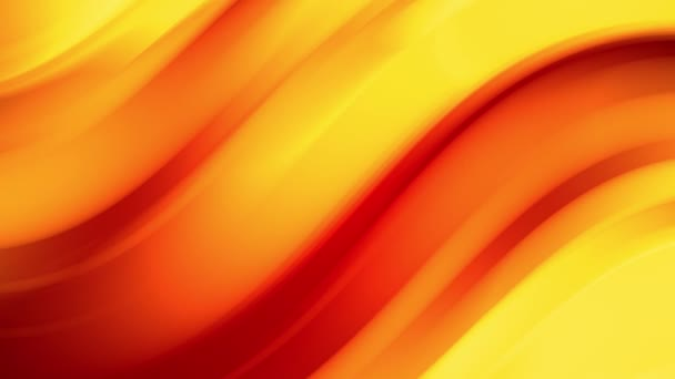 A red yellow gradient of a bright fire color changes slowly and cyclically. 4k smooth seamless looped abstract animation. 3d render of curved lines. 58