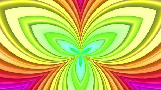 Absztrakt 3D zökkenőmentes élénk hátteret a gradiens Colores a 4k. Szivárvány többszínű csíkok mozgatni ciklikusan egyszerű rajzfilm kreatív stílusban. Végtelenített gördülékeny animáció.