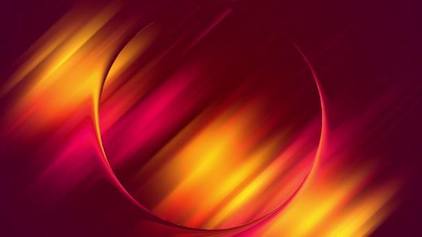 Kreativer Hintergrund mit flüssigem Farbverlauf aus leuchtend rot-gelb-orangen Farben mischt sich langsam mit Kopierraum. 4k nahtlose Loopanimation. gekrümmte Kurven 20