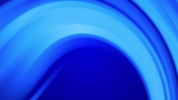 Tvůrčí abstraktní modré pozadí s tekutým abstraktním gradientem jasně modrých barev se pomalu mísí. 4k hladká bezešvá smyčková animace barvy. Zakřivené křivky 23