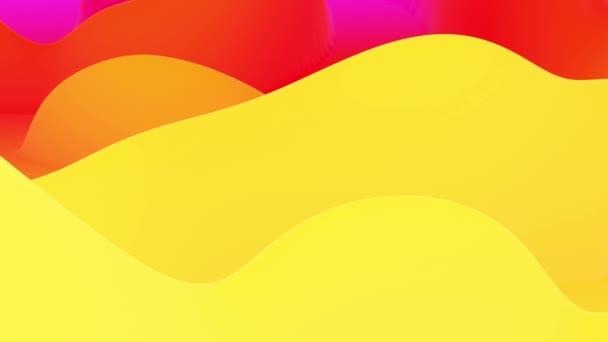 4k bezešvé smyčky, abstraktní fluidní červené žluté gradienty, vnitřní světlý povrch. Krásné teplé barevné přechody jako abstraktní tekuté pozadí, hladká animace. 3D v plochém příjemném moderním stylu. 15