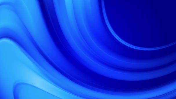 Tvůrčí abstraktní modré pozadí s tekutým abstraktním gradientem jasně modrých barev se pomalu mísí. 4k hladká bezešvá smyčková animace barvy. Zakřivené křivky 3