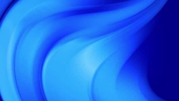 Kreatív absztrakt kék háttér folyékony absztrakt gradiens élénk kék színek keverjük lassan. 4k sima zökkenőmentes hurkos animáció festék. Csavart ívű vonalak 8