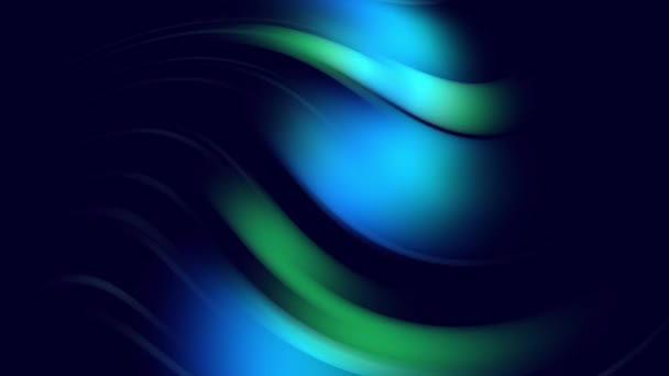 Zakřivené křivky se otáčejí jako kreativní abstraktní pozadí s tekutým abstraktním gradientem zelené modré barvy, které se pomalu mísí s kopírovacím prostorem. 4k hladká bezešvá smyčková animace. 63
