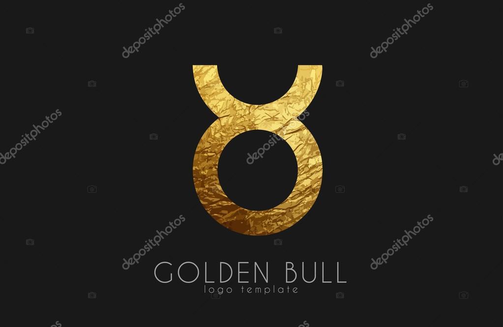 Logo Toro Dorado Toro De Oro Signo Del Zodiaco De Oro