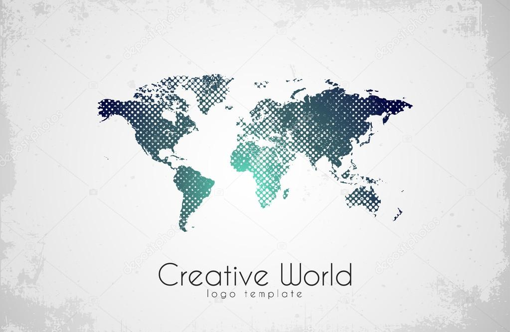 World map logo creative world design creative logo stock vector world map logo creative world design creative logo stock vector gumiabroncs Image collections