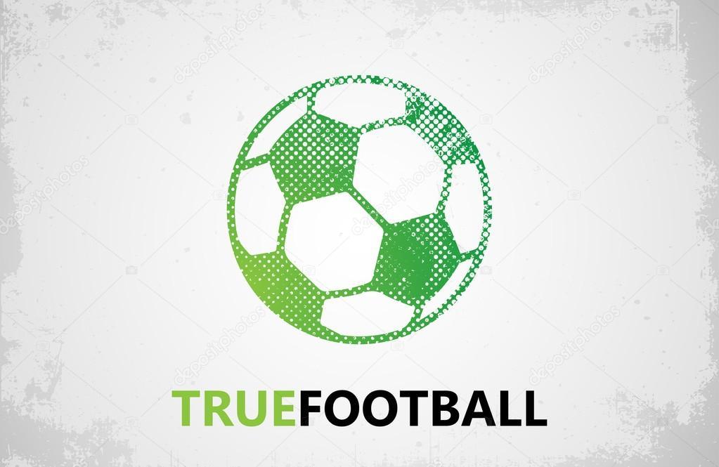 football logo ball logo design football ball design stock vector