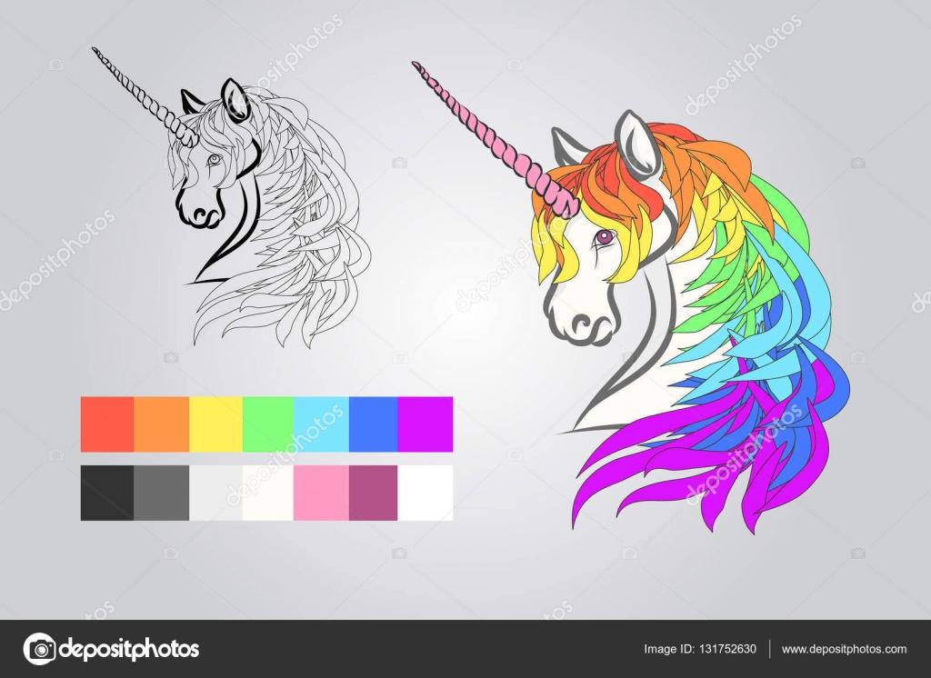 Para colorear para niños - unicornio — Vector de stock © Mila_Endo ...