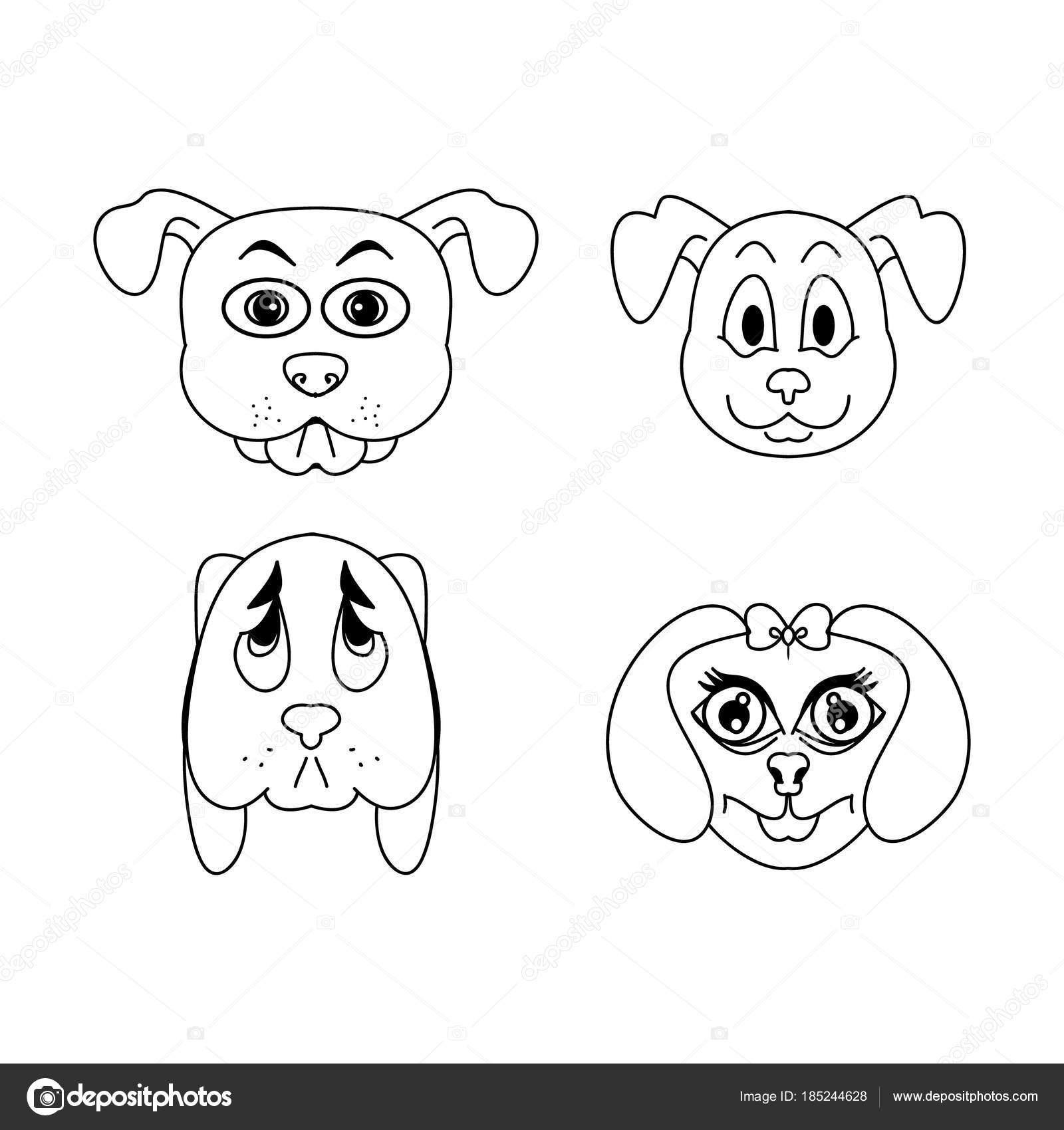 Imágenes Caras De Perros Para Dibujar Niños De La Cara Del Perro