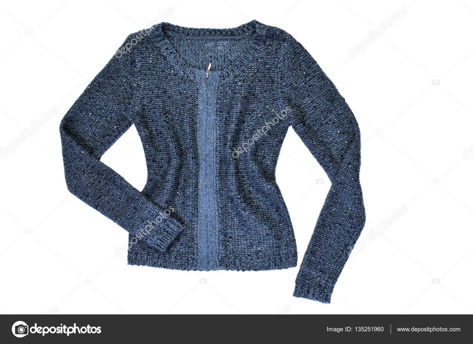 db51099bd409 Γυναικεία πλεκτά πουλόβερ μάλλινο που απομονώνονται σε λευκό — Εικόνα από  ...