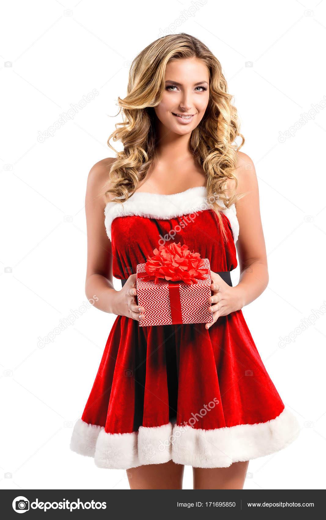 schöne sexy Mädchen mit Weihnachtsgeschenke — Stockfoto © zamuruev ...