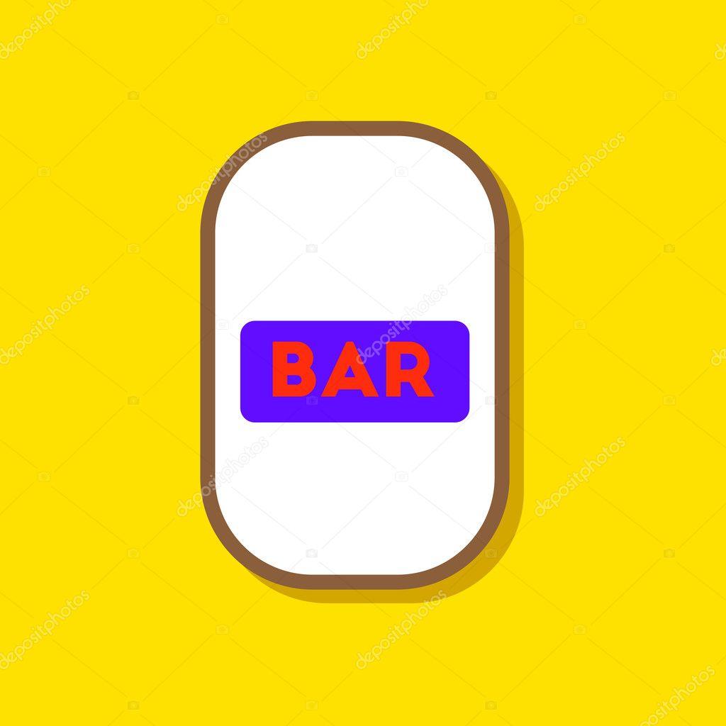 Papier-Aufkleber auf stilvollen Rahmen Bar Schild — Stockvektor ...