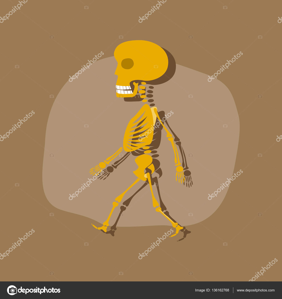 etiqueta engomada del papel de monstruo de Halloween esqueleto ...