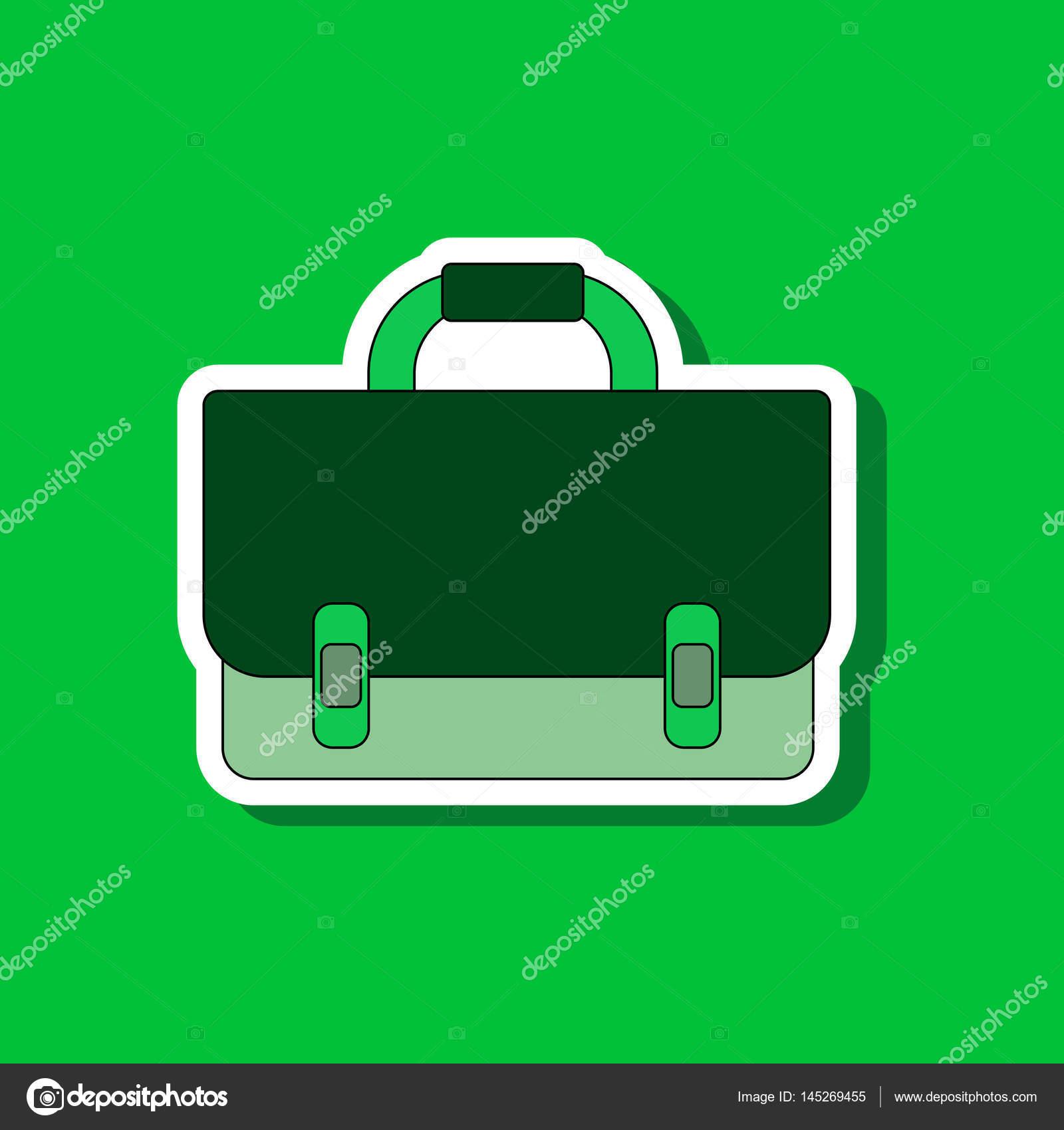 Papier-Aufkleber auf stilvollen Rahmen Schultasche Rucksack ...