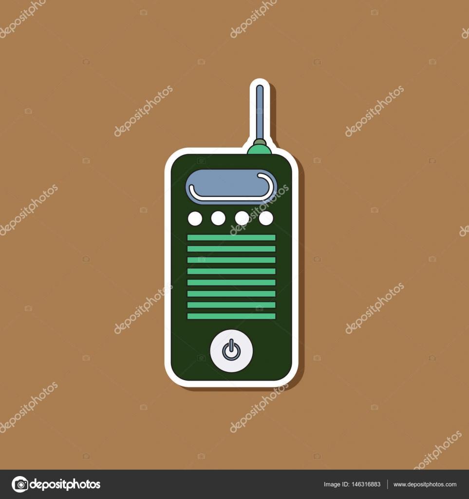 etiqueta engomada de papel en fondo de celular — Vector de stock ...