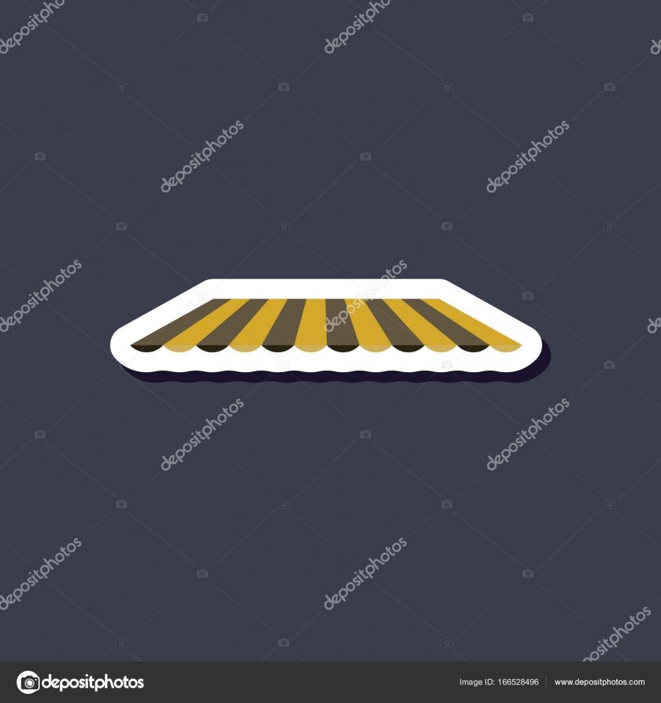 Papier-Aufkleber auf stilvollen Rahmen Dach Markise — Stockvektor ...