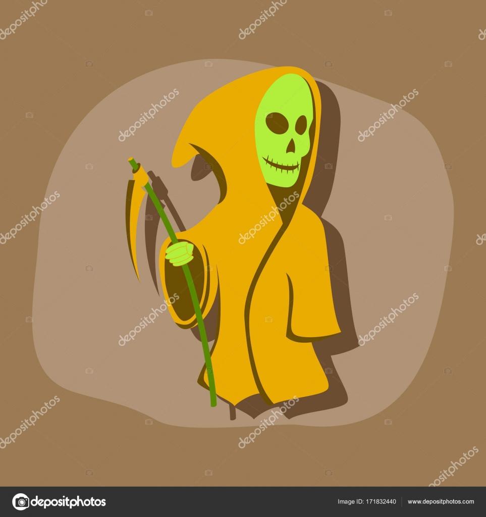 Papier-Aufkleber auf stilvollen Rahmen Halloween Tod Sense ...