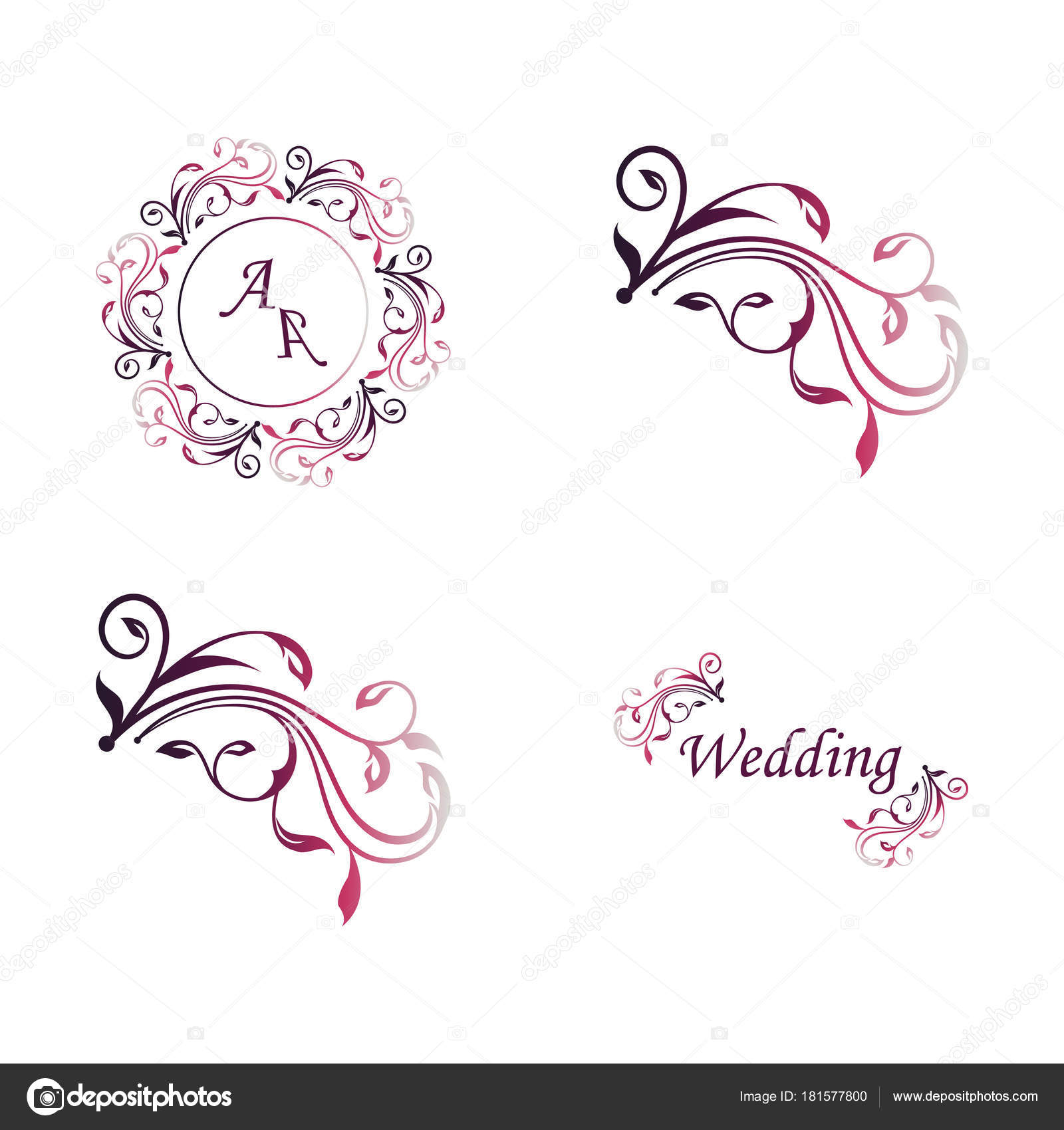 Set of wedding ornaments and decorative elements vintage banner set of wedding ornaments and decorative elements vintage banner ribbon labels frames badge stickers vector love element junglespirit Gallery