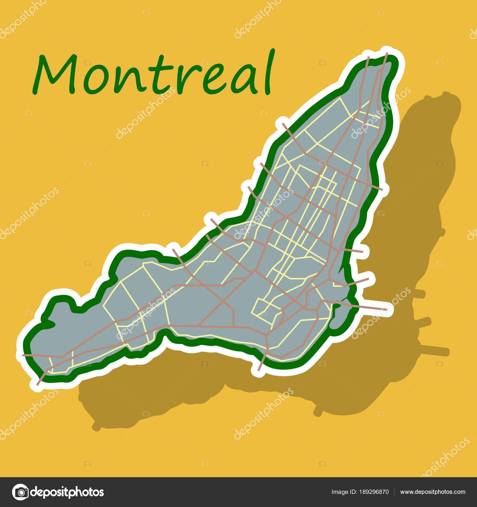 Carte Du Canada Montreal.Sticker Carte De Montreal Est Une Ville Du Canada Avec Les