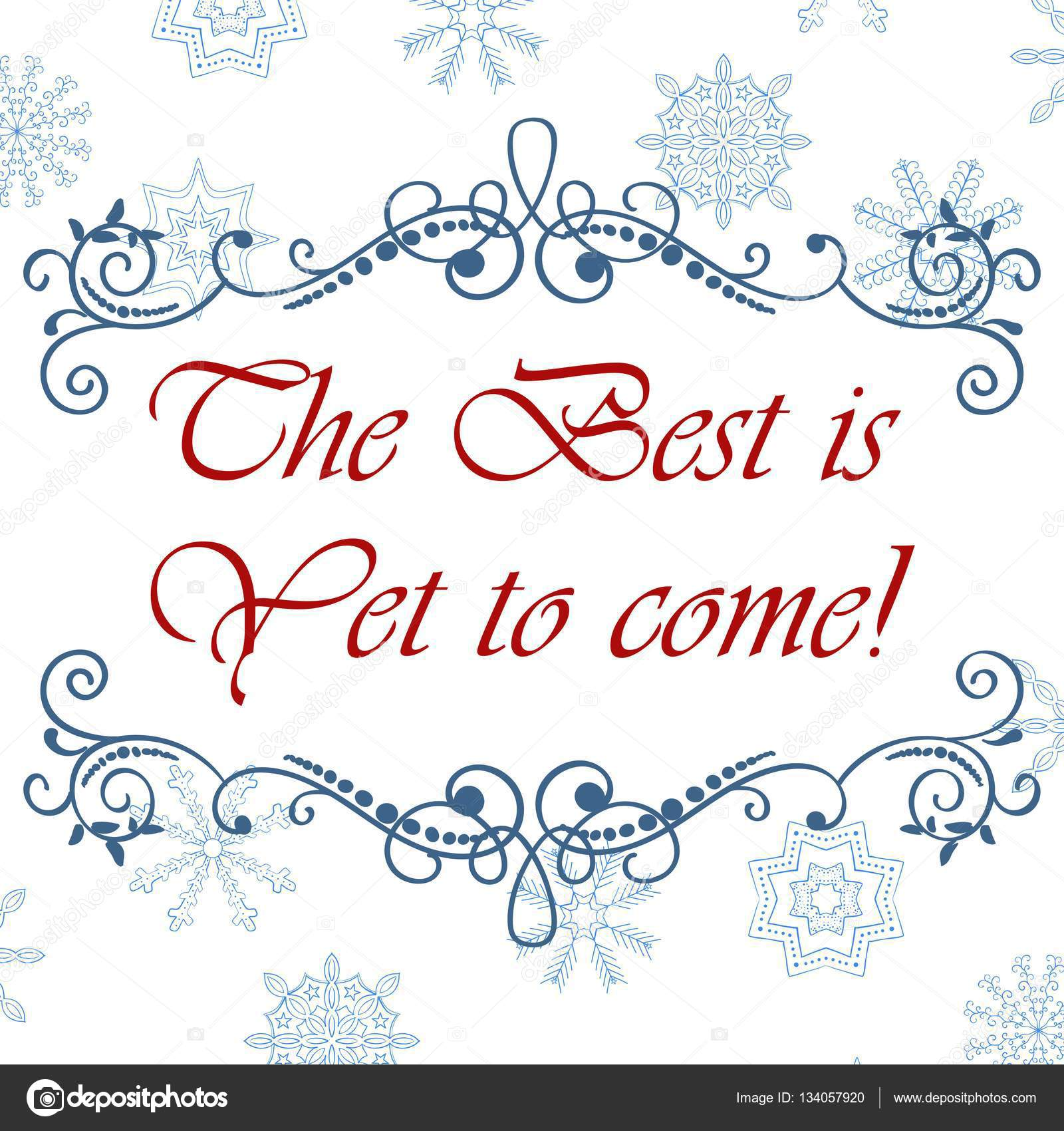 Vector calligraphic vintage frame. Merry Christmas and Happy New ...