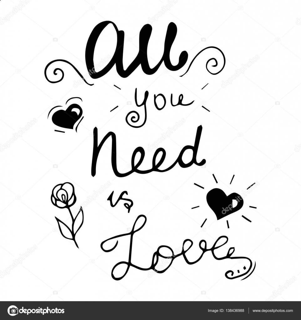 Imagenes Diseno De Letras De Amor Todo Lo Que Necesitas Es Amor