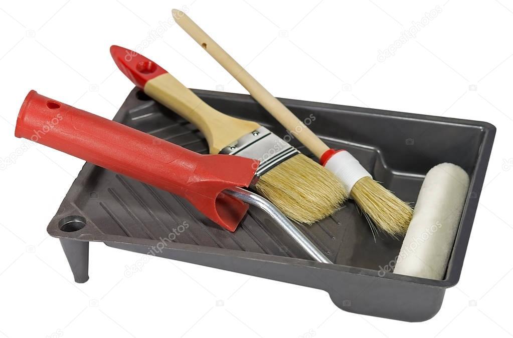 Herramientas para pintura de casas foto de stock vega for Casas de herramientas