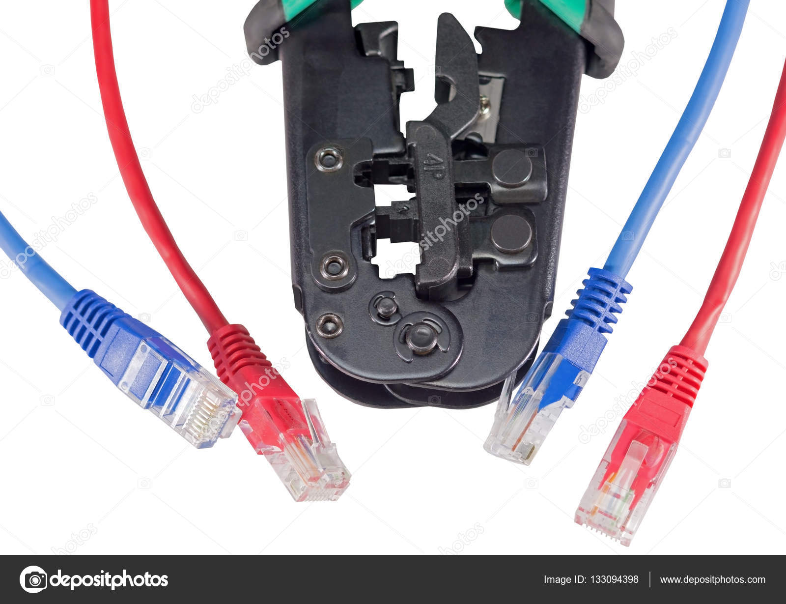 Crimping tool with a network cable isolated — Stock Photo © vega_240 ...