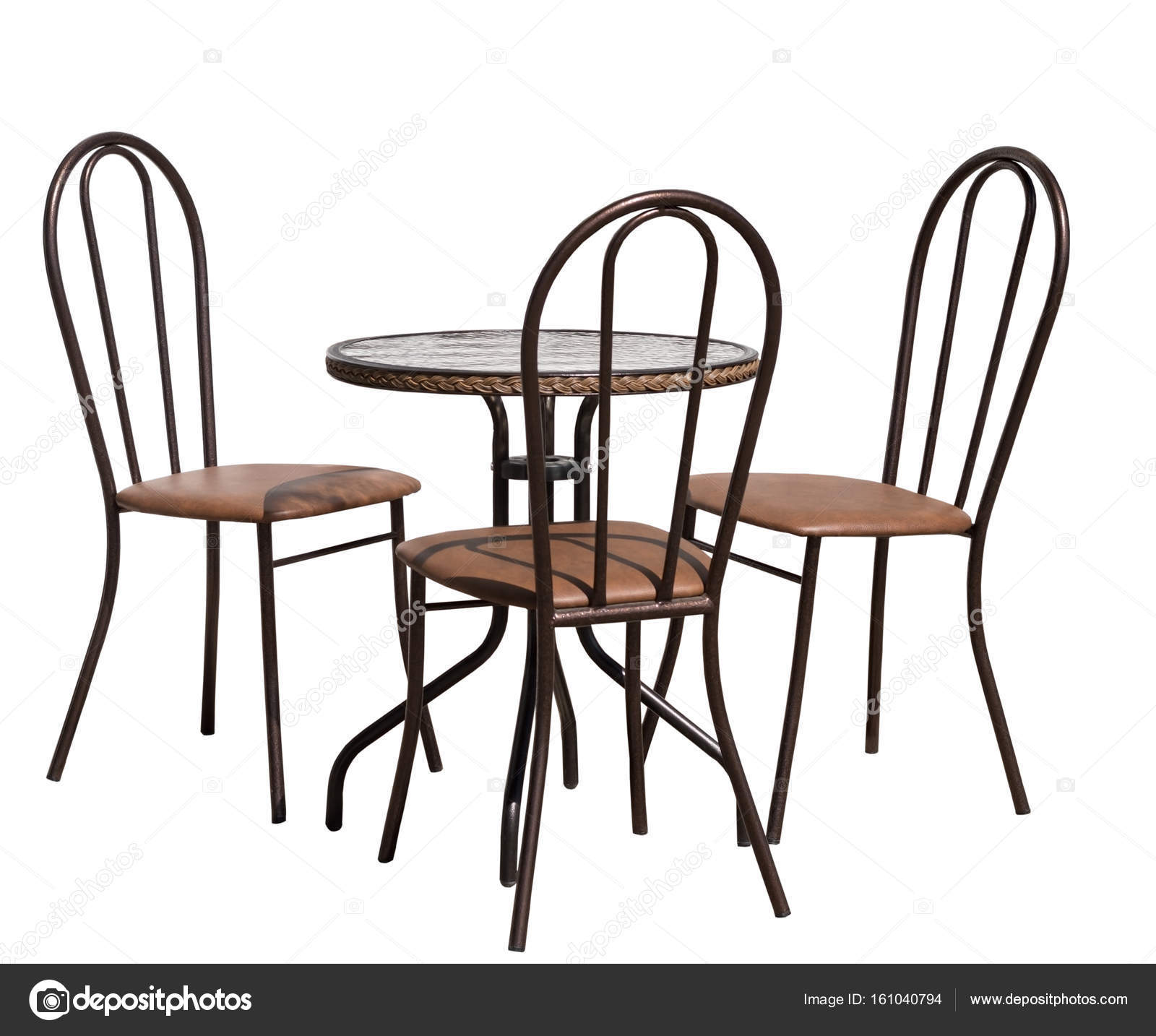 Tisch und Stühle auf weiß — Stockfoto © vega_240 #161040794