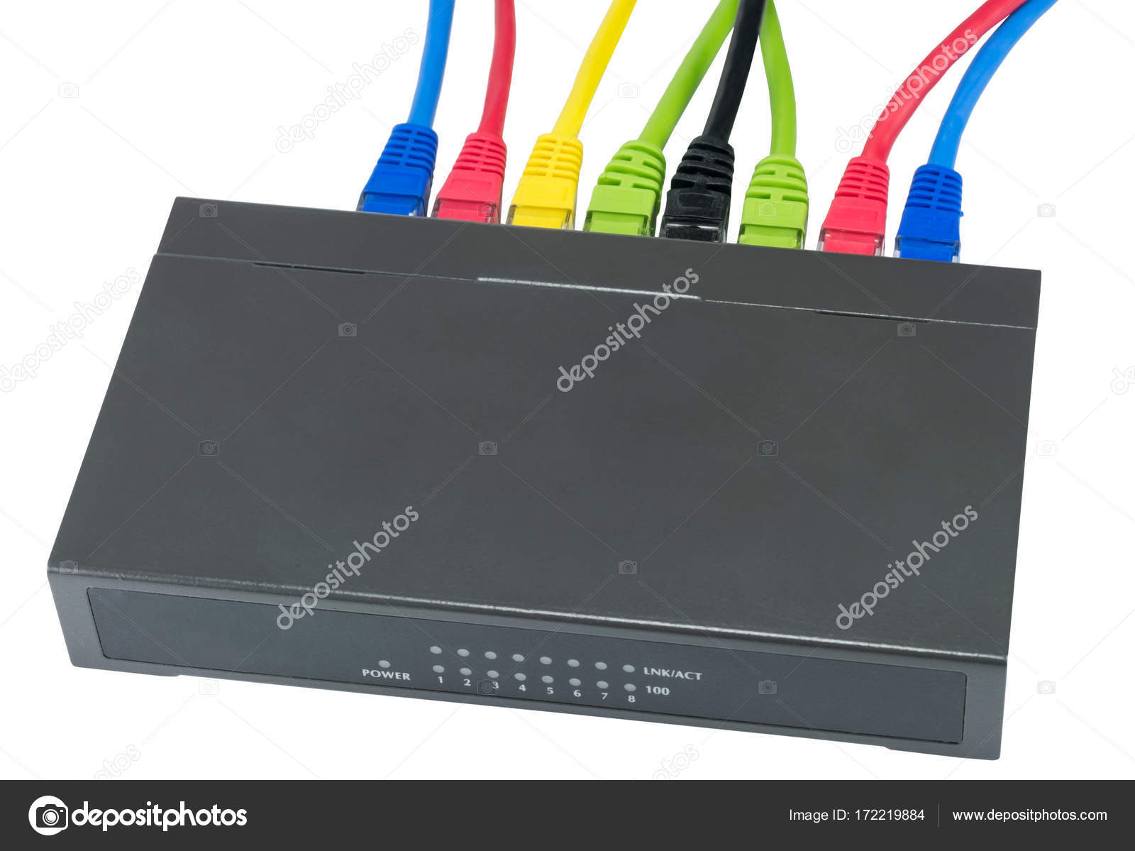 network cables connected to router — Stock Photo © vega_240 #172219884