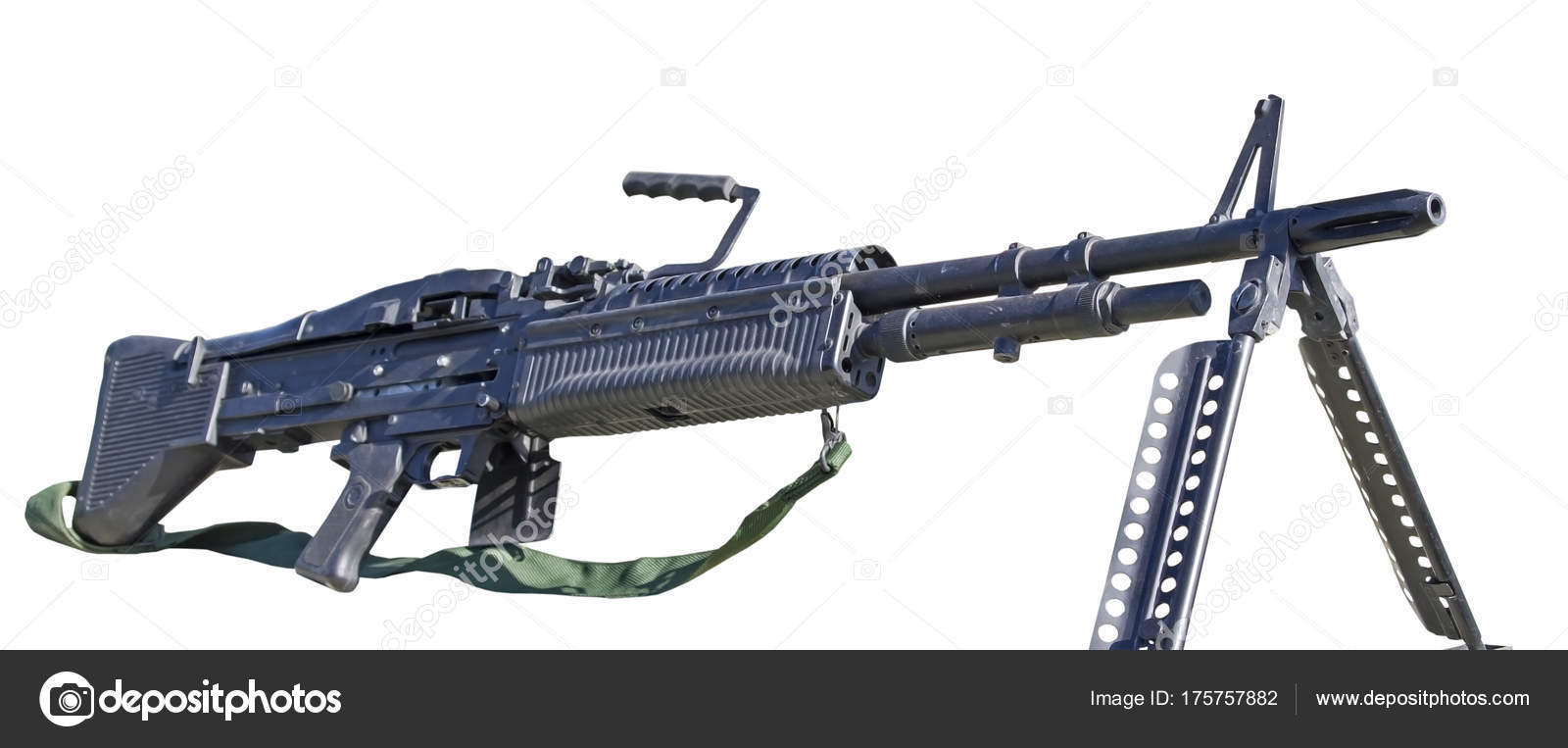 m60 machine gun on white stock photo vega 240 175757882