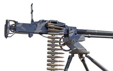 DShK 1938   Soviet heavy machine gun firing the 12.7 on white