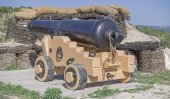 imitace staré pobřežní postavení lodi zbraně